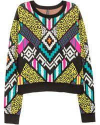 H&M - Jacquard-knit Jumper - Lyst