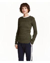 H&M - Knitted Linen-blend Top - Lyst