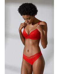 bda9f38e365d3 Lyst - H M Lace Bralette in Red