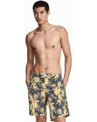 64465 A Dark bluefloral bf6d2742 shop men's h&m beachwear from $10 lyst,Hm Swimwear Mens