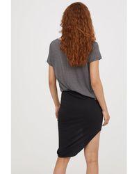 H&M - Draped Jersey Skirt - Lyst