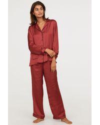 H&M - Pajama Shirt And Pants - Lyst