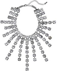 H&M - Large Sparkly Stone Necklace - Lyst