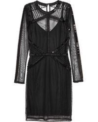 H&M - Beaded Mesh Dress - Lyst