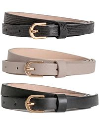 H&M - 3-pack Narrow Belts - Lyst