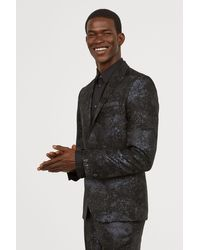 H&M - Jacquard-weave Jacket Slim Fit - Lyst
