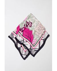 H&M - Patterned Satin Scarf - Lyst