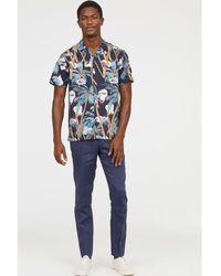 H&M - Linen Suit Trousers Slim Fit - Lyst