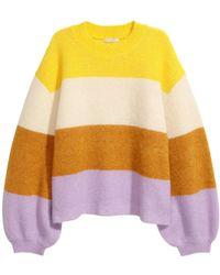 H&M - Knitted Mohair-blend Jumper - Lyst