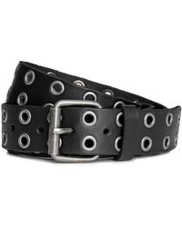 H&M - Leather Belt With Eyelets - Lyst