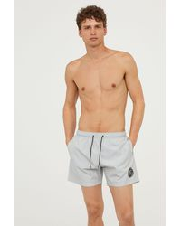 H&M - Swim Shorts With Printed Motif - Lyst