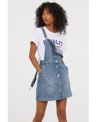 H&M - Bib Overall Dress - Lyst