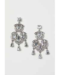 H&M - Sparkly Stone Earrings - Lyst