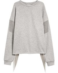 H&M | Sweatshirt With Ball Chains | Lyst