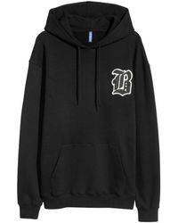 H&M - Hooded Top With A Print Motif - Lyst