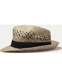 Hackett - Open-weave Straw Trilby Hat - Lyst