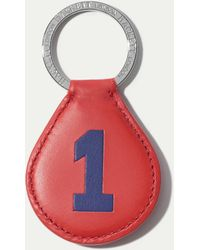 Hackett - Number One Leather Keyring - Lyst
