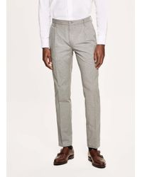 Hackett - Mini Prince Of Wales Cotton Trousers - Lyst