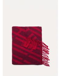 Hackett - Geo H Print Merino Wool And Cashmere Scarf - Lyst