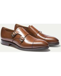 Hackett - The Double Monk Strap Shoe - Lyst