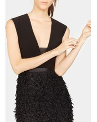Halston - Feather Boucle Gown - Lyst