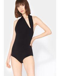 Halston - Iconic Halter Neck Bodysuit - Lyst