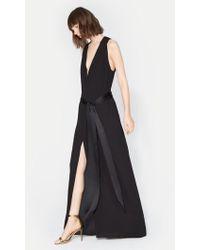 Halston - Flowy Gown With Sash - Lyst