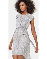 Halston - Cap Sleeve Dress With Sash - Lyst