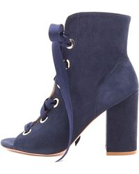 Ulla Johnson - Ramona Heel In Navy Suede - Lyst