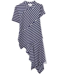 Monse - Navy/white Twisted Stripe T-shirt - Lyst