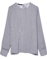 Jenni Kayne - Long Sleeve Top With Cuffs In Navy/white - Lyst