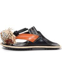 Carven | City Sandals In Noir | Lyst