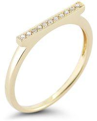 Dana Rebecca - Sylvie Rose Bar Ring In Yellow Gold - Lyst