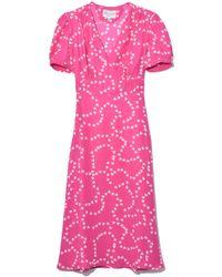 HVN - Hearts Print Dress - Lyst