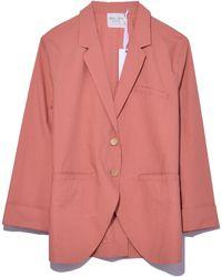 Giada Forte - Cotton Popeline Jacket In Papaya - Lyst