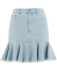 Zimmermann - Blue Corsair Denim Flutter Skirt - Lyst