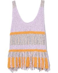 Raquel Allegra - Knit Tank In Lilac/gold - Lyst