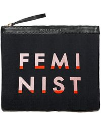 Lizzie Fortunato - Oversized Pouch In Feminist - Lyst