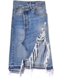 R13 - Norbury Denim Skirt In Jasper - Lyst