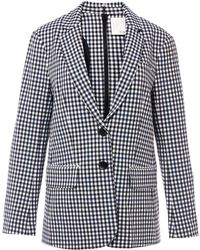 Tibi - Gingham Mens Blazer With Back Zip In Gingham Multi - Lyst