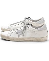 Jérôme Dreyfuss - Superstar Sneakers In White/silver Glitter - Lyst