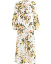 Zimmermann - Zippy Wrap Dress In Ivory Garden Floral - Lyst