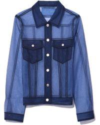 Viktor & Rolf - Classic Denim Tulle Jacket In Navy - Lyst