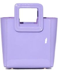 STAUD - Mini Shirley Bag In Lavender Patent - Lyst