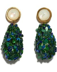 Lizzie Fortunato - Roman Party Earrings In Emerald - Lyst