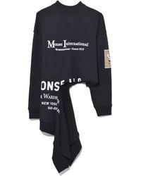 Monse - International Rip Sweatshirt In Black - Lyst