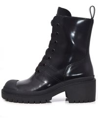 5e63779d5ab Marc Jacobs Black Bristol Laced Up Boots in Black - Lyst