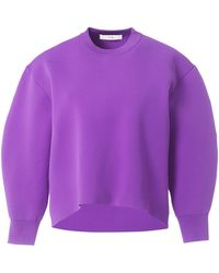 Tibi - Tech Sculpted Sleeve Pullover In Purple - Lyst