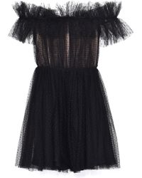 Giambattista Valli - Off The Shoulders Ruffled Dress - Lyst