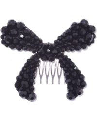 Simone Rocha - Large Bow Hair Clip In Jet - Lyst